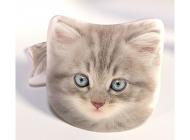 3D Polštářek Šedivé kotě