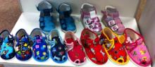 BAČKORY Domácí obuv polootevřená vel. 16 dívčí