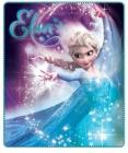 Fleece deka Frozen Ledové království Elsa - Tyrkys