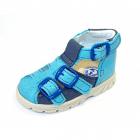Kožené sandály pro děti modré vel. 21