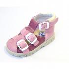 Kožené sandály pro děti růžové vel. 26