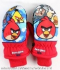 NEPROMOKAVÉ RUKAVICE palcové Angry Birds červené vel. 3-4 roky