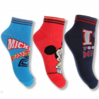 Nízké ponožky Mickey Mouse 3 páry v balení trojpack vel. 27/30