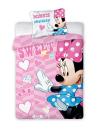 Povlečení do postýlky Minnie Mouse růžová