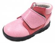 První krůčky Dívčí kožené celoroční boty vel.21